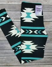 PLUS Size Mint Aztec Leggings White Printed Plus Curvy 10-18