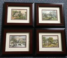 Vintage Framed 1970's Currier and Ives American Homestead Print Series