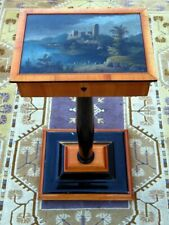 Phantastischer Nähtisch mit einem herrlichen Biedermeier Gemälde um 1930-1950