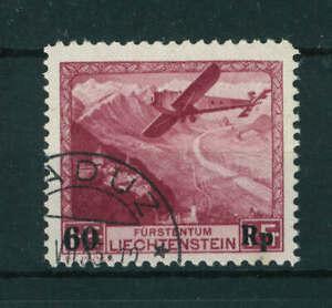 Liechtenstein 1934 Airmail Surcharged stamp. Used. Sg 150