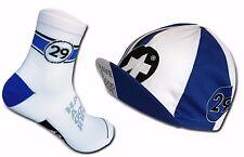 Cycling Socks & Cycling Cap ASSOS CLASSIC Set Royal Blue/White US 9.5-12
