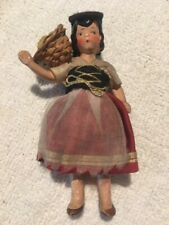Antique German Bisque Hertwig Dollhouse Doll Represents Italy