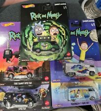HOT WHEELS RICK AND MORTY SET OF 5