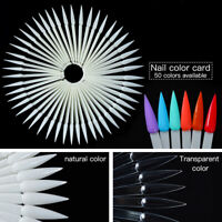50Pcs False Display Nail Art Wheel Polish Practice Pop Tips Sticks DIY Tool Set
