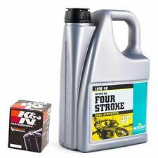 Motorex 10W40 Oil & K&N Oil Filter Kit For Triumph 2000 TT600 KN-191