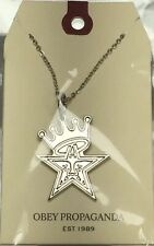 "Obey ""Star Crown"" Necklace White Gold"