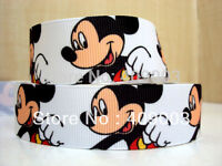 """Mickey Mouse Ribbon 7/8"""" Wide 1m is only £1.29 NEW UK SELLER"""
