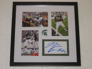 Le'veon Bell Signed Photocard Framed Michigan State Football COA
