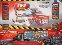 Mega Firestation Playset Rescue HQ Play set Kids Children Toy with Mega Truck