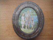 Boîte chocolat Côte d'Or métal famille royale Belge + carte