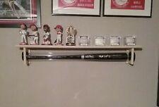 1 Bat - Wood Baseball Bat Display Rack w/ Top Shelf, Bobbleheads