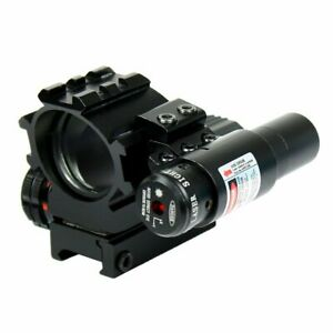 Holographic Tactical Red / Green 4 Reticles Reflex Dot Scope + Laser Scope Combo