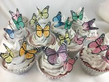 Butterfly Edible Cake Topper 10pc Monarch Mother Tea Party Nana Birthday Fairy