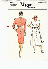 Vogue Misses Dress Standing Collar Variations Sewing Pattern 8912 Sizes 8-12