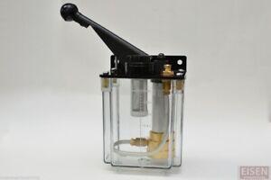 1 liter BIJUR-style Manual Lubrication Unit for Bridgeport mills, CKE-8 Oil Pump