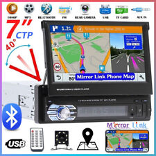 1 DIN Autoradio GPS Bluetooth 7'' Pantalla Táctil Coche MP5 Player USB + EU Map