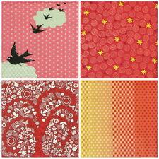 4x Tovaglioli di carta per decoupage Craft Vintage Colore Rosso Mix