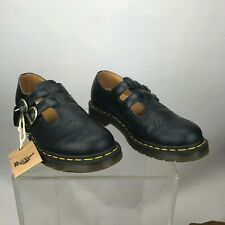 Women's Shoes Dr. Martens 8065 Double Strap Leather Mary Janes 12916-001 BLACK 9