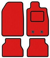 KIA CARENS 2013 ONWARDS RED TAILORED CAR MATS WITH BLACK TRIM