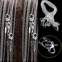 """Bulks 925 Rolo Link CHAINS 1mm Necklaces 16"""",18"""",20"""",22"""",24inch Wholesale Price"""