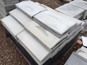 Coping Stones - 30nr - Twice Weathered - Light Grey - 300 x 600mm