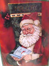 Dimensions Christmas Needlepoint Stocking 9107 DEAR SANTA Kit ~ Rosche ~ Sealed