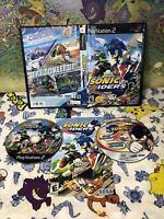 Sonic Riders  PS2 Complete + Manual, Black Label Rare w/Sonic X DVD EXCLUSIVE