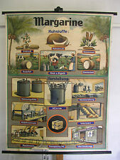 NICE Old School Wall Map Margarine raw materials production räth Blue Band 93x12...