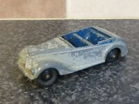 VINTAGE DINKY TOYS No.38E ARMSTRONG SIDDELEY CAR GREY BODY BLUE INTERIOR