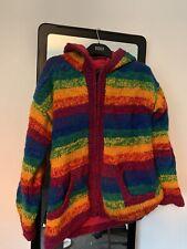 Rainbow cálido abrigo pesado Festival
