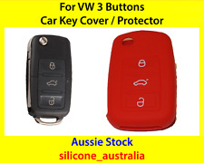 New Red Silicone Car Key Cover for VW Volkswagen Golf Jetta Passat Polo Tiguan