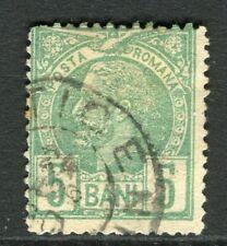 ROMANIA;  1885 early Prince Carol issue fine used 5b. value, fair Postmark