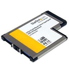 Startech.com 2 puertos USB 3.0 ExpressCard 54mm con soporte Uasp