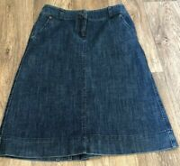 Monsoon A Line Blue  Wash A Line Denim Skirt Uk 8