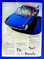 "1972 Porsche 914 The Surf Porsche Original Print Ad-8.5 x 11"""