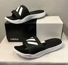 New Adidas Alphabounce Slides/Sandals Black/White (BA8775) Men's Size 13