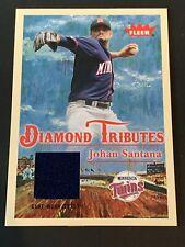 Johan Santana 2005 Fleer Diamond Tributes Game Used Jersey Minnesota Twins