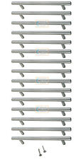 15 x 96mm Solid T BAR Handles Nickel Kitchen Cabinet Door Cupboard Drawer
