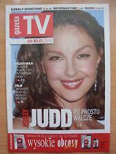 ASHLEY JUDD on front cover Polish Magazine GAZETA TV
