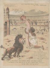 """""""LES JEUX DU CIRQUE"""" Planche originale entoilée Maurice NEUMONT 1922 37x48cm"""