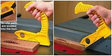 Patented Table Saw and Router Table Push Block, Shoe, Stick with non-slip pads