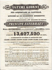 G30-LOTTERIA-MANIFESTINO VENDITA BIGLIETTI VENEZIA 1839