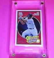 2005 Upper Deck Baseball Heroes #88 RED SSP,  #d /75, Wade Boggs Yankees