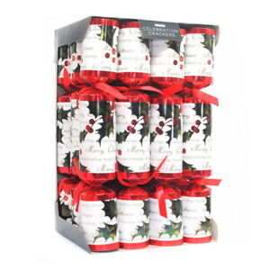 Celebration Crackers Holly Berry, Fabric, Red/White, 12 x 2 x 1.2 inches