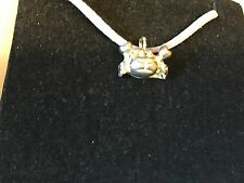 """Crab TG153 English Pewter On 18"""" White Cord Necklace"""