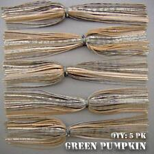 Trophy GREEN PUMPKIN Hole In One skirts for pike, musky, trophy bass. Qty: 5pk