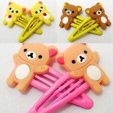 Kids Baby Girls 3 Pair Cartoon Relax Bear Hair Clips/Pins/Slides/Accessory/Grips