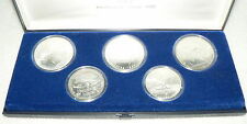 Russland Satz Olympiade 1980 5 und 10 Rubel UdSSR Silbermünzen (da2836)