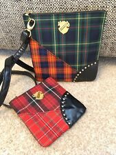 Mac Messenger Bag & Purse NEW Multi Tartan Women's Removable Strap 18x18.5cm