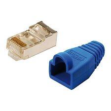 LogiLink® Modularstecker CAT5e mit Knickschutzhülle blau 100 Stück MP0014